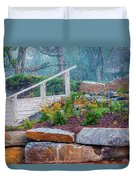 Stone Wall And Stairs Duvet Cover