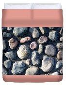 Stone Wall At Gallup Park Duvet Cover