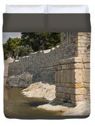 Stone Wall In Foca Duvet Cover