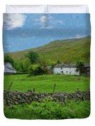 Stone Wall Lake District - P4a16012 Duvet Cover