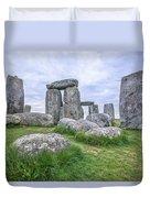 Stonehenge In England Duvet Cover