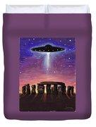 Stonehenge Ufo Duvet Cover