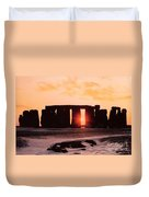 Stonehenge Winter Solstice Duvet Cover