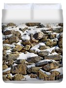 Stones And Snow Duvet Cover