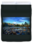 Stones By The Similkameen Duvet Cover
