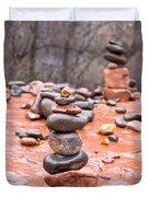 Stones In Balance Duvet Cover