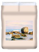 Stones In The Sea Duvet Cover