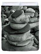Stones Still Life Monochrome Duvet Cover