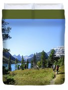 Stoney Indian Pass Trail Around Cosley Lake - Glacier National Park Duvet Cover