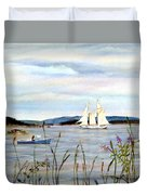 Stonington Harbor, Maine Duvet Cover
