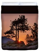Stop Right Here - Rocky Mountain Np - Sunrise Duvet Cover