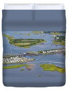 Stopping Traffic Topsail Island Duvet Cover
