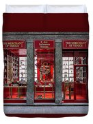 Store Front In Red Duvet Cover