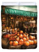 Store - Hoboken Nj - The Fruit Market Duvet Cover