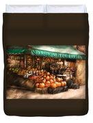 Store - Hoboken Nj - The Fruit Market Duvet Cover