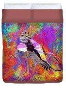 Stork Fly Elegant Feather Bird  Duvet Cover