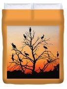 Storks In The Evening Sun Light Duvet Cover