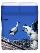 Storks Of Segovia Duvet Cover