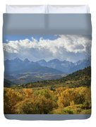 Storm Approaching County Road 7 Duvet Cover