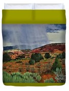 Storm Approaching The Ridge Duvet Cover