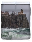 Storm At Split Rock Lighthouse Duvet Cover