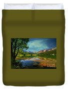 Storm At Trout Lake Duvet Cover