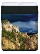 Storm Brewing Over Yellowstone Duvet Cover