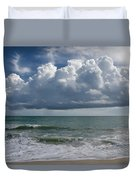 Storm Clouds Above The Atlantic Ocean Duvet Cover