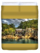 Storm Clouds Cross The Quarry At High Noon Duvet Cover