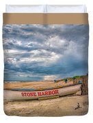 Storm Clouds In Stone Harbor Duvet Cover