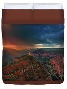 Storm Clouds North Rim Grand Canyon Arizona Duvet Cover by Dave Welling