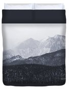 Storm Clouds On Pikes Peak Duvet Cover