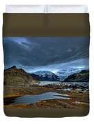 Storm Clouds Over A Glacier - Iceland Duvet Cover