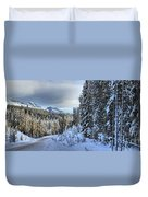 Storm Clouds Over Bow Valley Parkway Duvet Cover