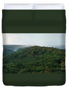 Storm Clouds Over Fall Nature Scenery Duvet Cover