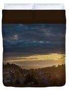 Storm Clouds Over Happy Valley During Sunset Duvet Cover