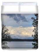 Storm Clouds Over Kentucky Lake Duvet Cover