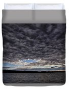 Storm Clouds Over Long Lake Duvet Cover