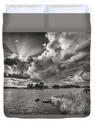 Storm Clouds Over Oriental Duvet Cover