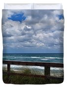 Storm Clouds Over The Beach Duvet Cover