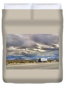 Storm Clouds Over The Highway Duvet Cover