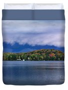 Storm Clouds Over The Lake Of Bays Duvet Cover