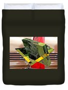 Storm Damage And Tail Light As Art Duvet Cover