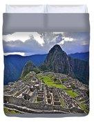 Storm Inbound To Machu Picchu Duvet Cover