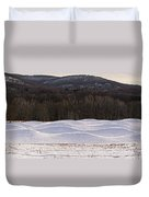 Storm King Wavefield In Snowy Dress Duvet Cover