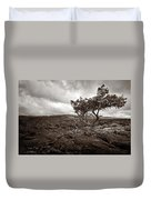 Storm Moving In - Sepia Duvet Cover