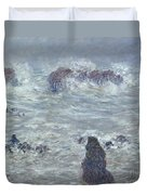 Storm Off The Coast Of Belle Ile Duvet Cover