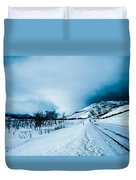 Storm On The Mountain Duvet Cover