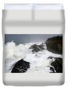 Storm On The Oregon Coast Duvet Cover