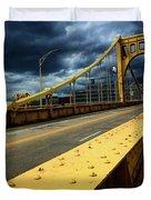 Storm Over Bridge Duvet Cover